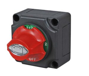 Durite Rotary Marine Battery Isolator Off/1/1+2/2 with Removable Control Knob